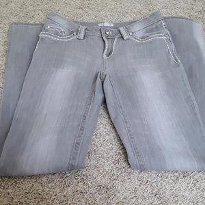 Boston Proper Gray Embellished Jeans